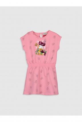 فستان اطفال بناتي مزخرف بالرسومات