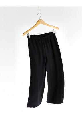 بنطال نسائي جينز بخصر مطاط - اسود