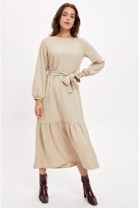 فستان سبور طويل بكشكش