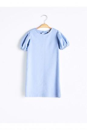 فستان اطفال بناتي شامواه كم قصير - ازرق
