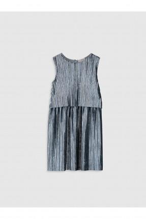 فستان اطفال بناتي مخمل مزين بكسرات