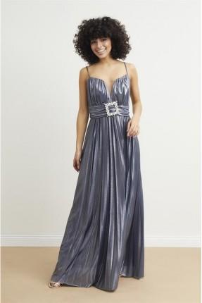 فستان رسمي مزين بكسرات