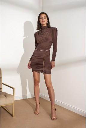 فستان رسمي بياقة عالية