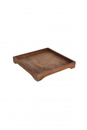 صينية خشب مربعة