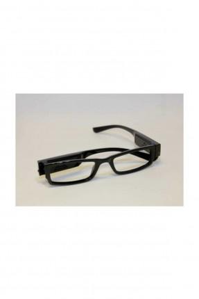 نظارة قراءة كتاب باللون الأسود بإضاءة ليد