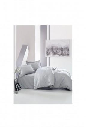 طقم غطاء سرير مزدوج - رمادي