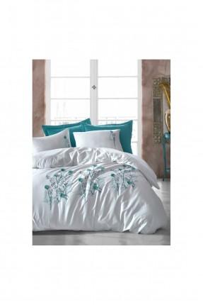 طقم غطاء سرير مزدوج مزين بورود