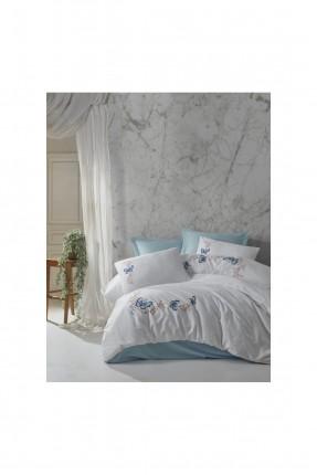 طقم غطاء سرير مزدوج مزين برسمة فراشة