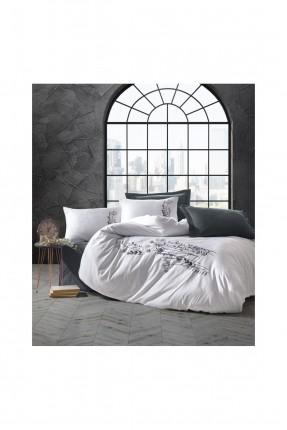 طقم غطاء سرير مزدوج مزين بنقشة