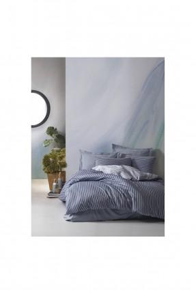 طقم غطاء سرير مزدوج مخطط