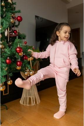 بيجاما رياضة اطفال بناتي بكبيشون - زهري