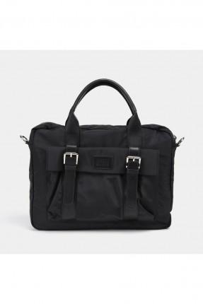 حقيبة يد رجالية باحزمة - اسود