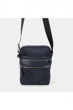 حقيبة يد رجالية بسحابات على الجيوب - كحلي