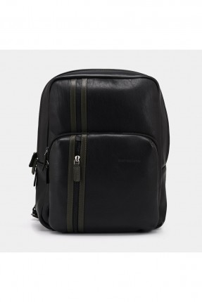 حقيبة يد رجالية بخطين - اسود