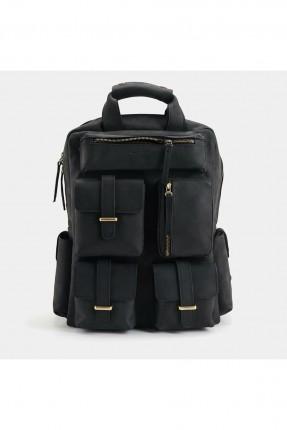 حقيبة ظهر رجالية بجيوب بارزة - اسود