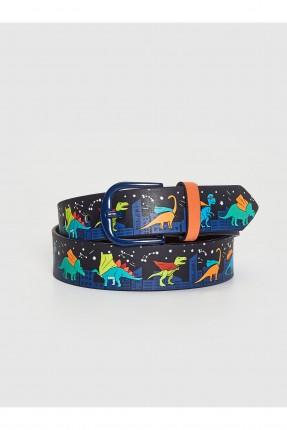 حزام اطفال ولادي بطبعة ديناصورات
