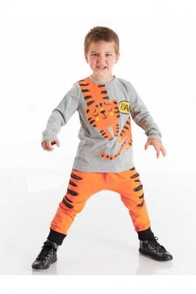 طقم اطفال ولادي بطبعة نمر