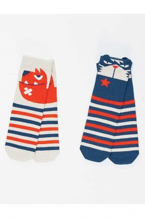 جوارب اطفال ولادي مخططة عدد 2
