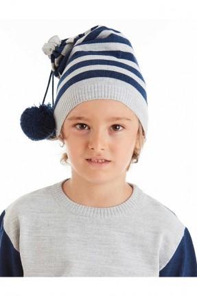 قبعة اطفال ولادي مخططة