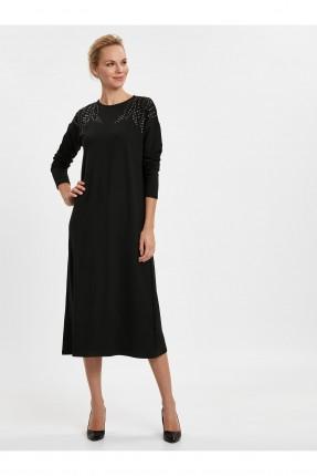 فستان سبور مزين من الصدر