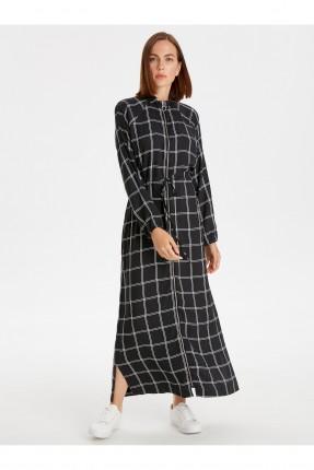 فستان سبور مزموم من الخصر