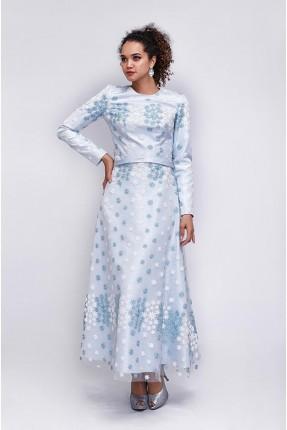 فستان رسمي مزين بزهور