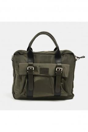 حقيبة يد رجالية باحزمة - زيتي