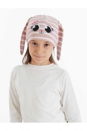 قبعة اطفال بناتي مخططة