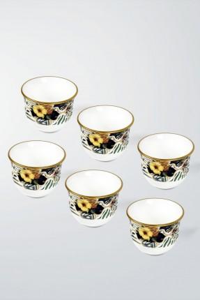 طقم فناجين قهوة عربية 6 اشخاص - فواكه