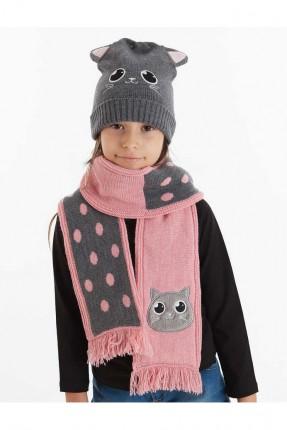 قبعة اطفال بناتي + لفحة