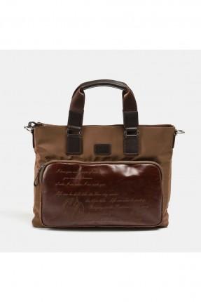 حقيبة يد رجالية بطبعة كتابة