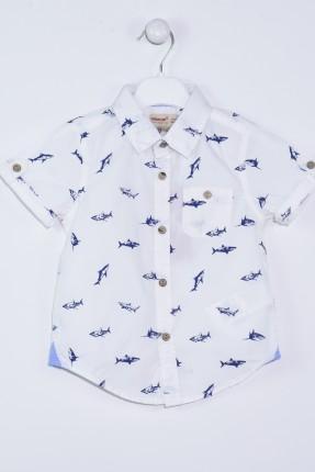 قميص بيبي ولادي مع رسمة سمك