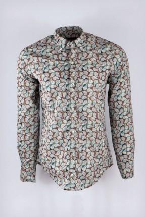 قميص رجالي كم طويل مزخرف