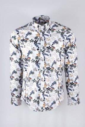 قميص رجالي كم طويل مزهر