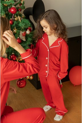 بيجاما اطفال بناتي بازرار - احمر