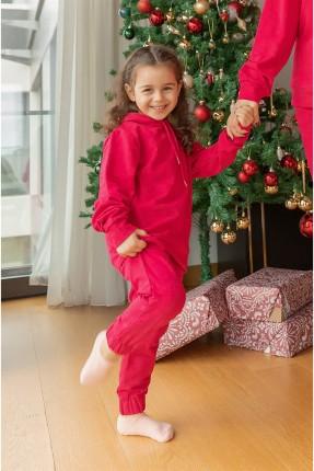 بيجاما رياضة اطفال بناتي - فوشيا