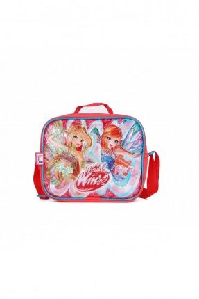 حقيبة يد اطفال بناتي بطبعة فتيات - احمر