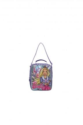 حقيبة يد اطفال بناتي بطبعة باربي - بنفسجي