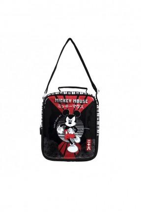 حقيبة اطفال ولادي بطبعة ميكي ماوس - اسود
