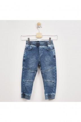 بنطال جينز اطفال ولادي بخصر مطاط