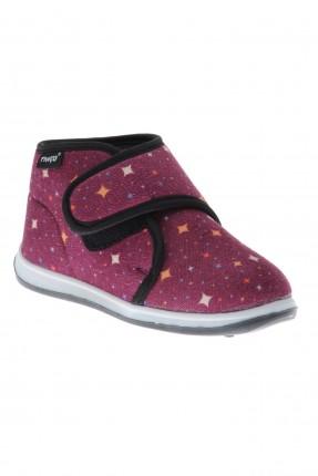 حذاء اطفال بناتي منزلي بلاصق ونقشة نجوم
