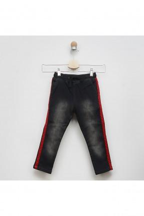 بنطال جينز اطفال ولادي مزين بخصر مطاط