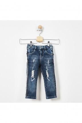 بنطال جينز اطفال ولادي مزين بتفاصيل ممزقة