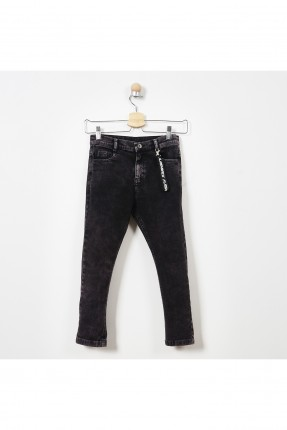 بنطال جينز اطفال ولادي - اسود