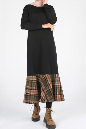 فستان نسائي بتفاصيل كارو