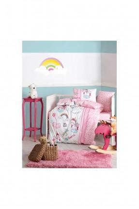 طقم غطاء سرير بيبي بناتي برسم