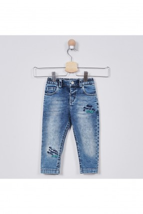 بنطال جينز بيبي ولادي مزين بكتابة