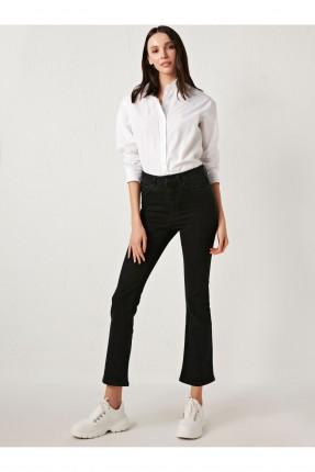 بنطال جينز نسائي - اسود
