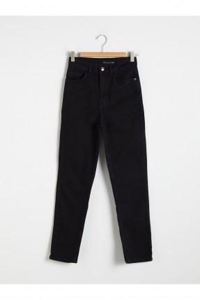 بنطال جينز نسائي موم فيت - اسود