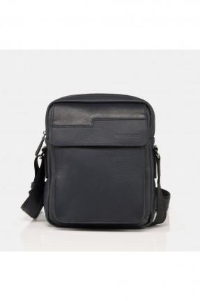 حقيبة يد رجالية جلد بحزام - كحلي